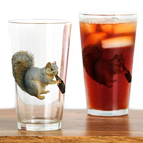 (CafePress Squirrel Beer Pint Glass, 16 oz. Drinking Glass )