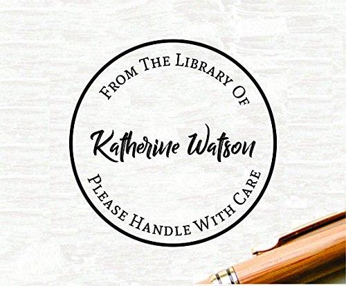 From The Library Of Embosser, Custom Library Embosser, Custom Address Embosser, Embossing Stamp, Embosser Seal, Custom Embosser,Office ()