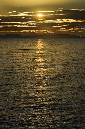Scenic view of sunset over ocean at Iceland 30x40 photo reprint by PickYourImage