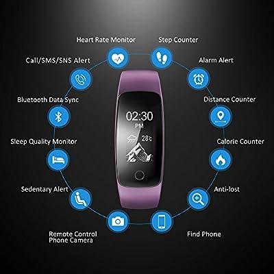 best chice ID107 Plus HR Heart Rate BT 4.0 Bracelet Fitness Activity Tracker black
