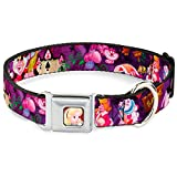 Buckle Down Seatbelt Buckle Dog Collar - Alice & the Queen of Hearts Scenes - 1.5'' Wide - Fits 13-18'' Neck - Small