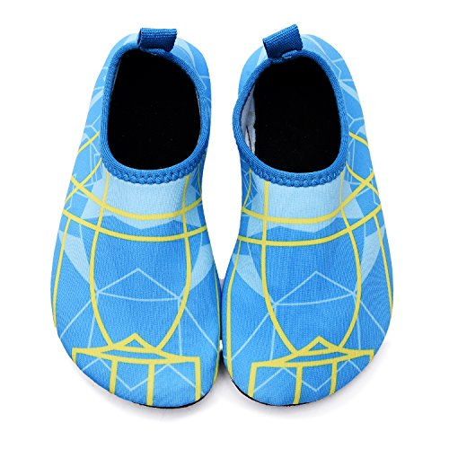 lewhosy Kids Boys and Girls Swim Water Shoes Quick Drying Barefoot Aqua Socks Shoes for Beach Pool Surfing Yoga(26/Light Blue) by lewhosy (Image #3)