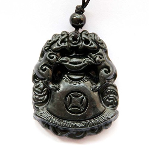 Happy Lucky Double Pixiu Pi Xiu Dragons Money Amulet Pendant clear silicone mold.Size 39x30mm. (3-22) ()