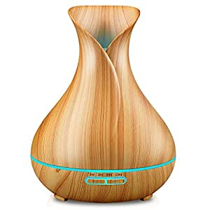 Amazon.com: URPOWER Essential Oil Diffuser, 400ml Wood