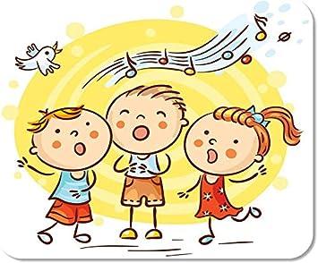 Mousepad Computadora Bloc de Notas Oficina Niño Niños Cantando ...