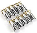 Dragonpad® 10pcs Nail Art Silver Foil Reusable Acrylic Uv Gel Forms Shape French False Golden