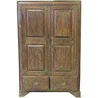 Antique Armoire Spanish Style Almirah Furniture Vintage Cabinet Storage