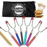 Premium Marshmallow Roasting Sticks, (Set of 6) Forks for...
