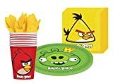 Angry Birds party supplies kit for 8 guests includes plates, cups and napkins, Health Care Stuffs