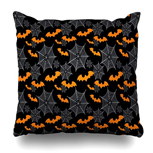 (Pakaku Decorativepillows Case Throw Pillows Covers for Couch/Bed 18 x 18 inch, Abstract Halloween Bats Home Sofa Cushion Cover Pillowcase Gift Bed Car Living)