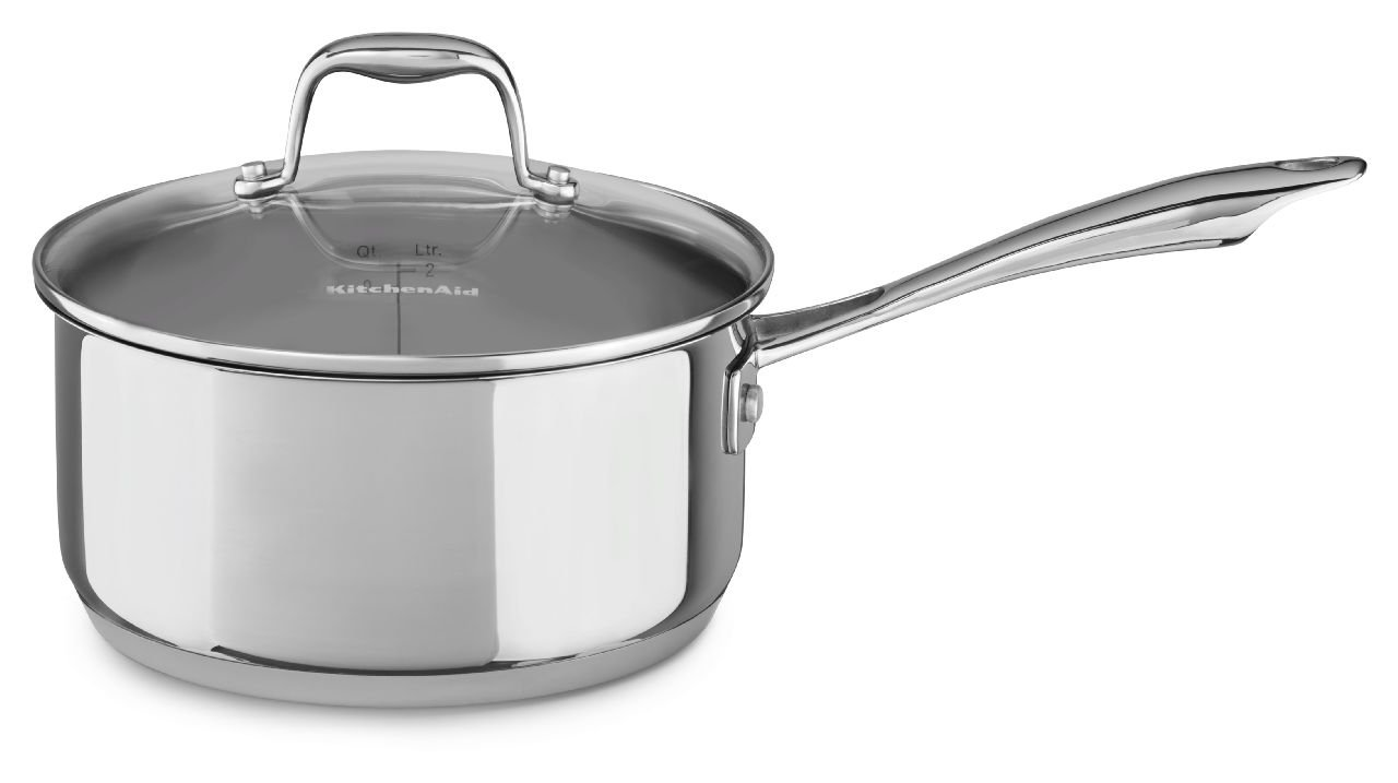Stainless Steel 3.0-Quart Saucepan with Lid Cookware