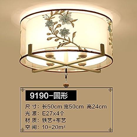 xqk moderna lámpara de techo Creatividad araña la bombilla LED China Wind redondas restaurante, jade