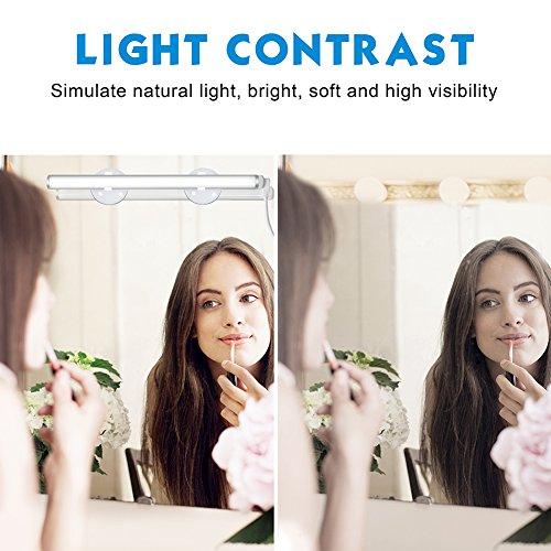 Emotionlite Vanity Light LED Make up Light Bathroom Vanity Mirror Light Portable Cosmetic Mirror Light Kit with 3-Level Brightness Dimmable, USB Makeup Light, Portable & Durable, White, 6000K by Emotionlite (Image #2)