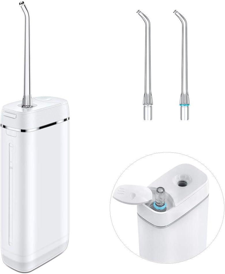Irrigador Dental Portátil, Reesibi Irrigador Bucal Profesional con Tanque de agua telescópico con 3 modos e IPX7 Resistente al agua para Viajes y Familia