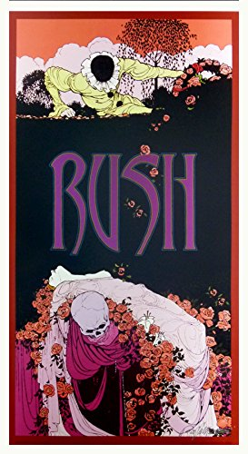 Rush Fan Club Poster Harlequin 2006 Hand Signed Silver Ink Bob Masse MINT