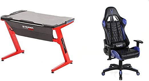 Woxter Stinger Station Gaming Desk – Mesa gaming de Escritorio + ...