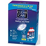 Clear Care Contact Lens Care Solution, 2 pk./16 fl. oz. with Bonus Travel Size, 3 fl. oz. and 2 Lens Cases