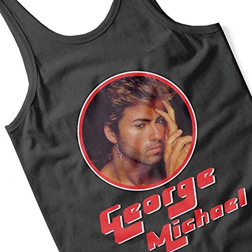 George Michael Pensive Retro Photo Frame Women's Vest Black