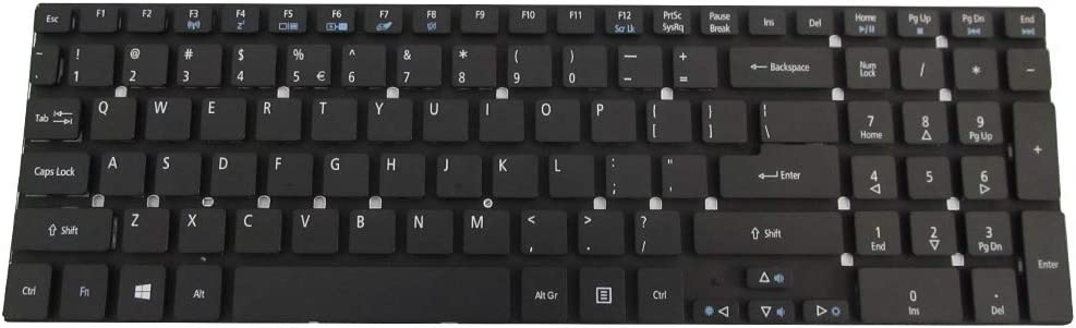 New Keyboard Compatible with Acer Aspire 5755 5755G 5830 5830G 5830T V3-551G Gateway NV57H NV75S NV77H NV55S NV55S14u NV55S22u NV55S17U NV77H05u NV57H13u NV55S17U NV57H77u PK130HQ1A00 V121702AS1