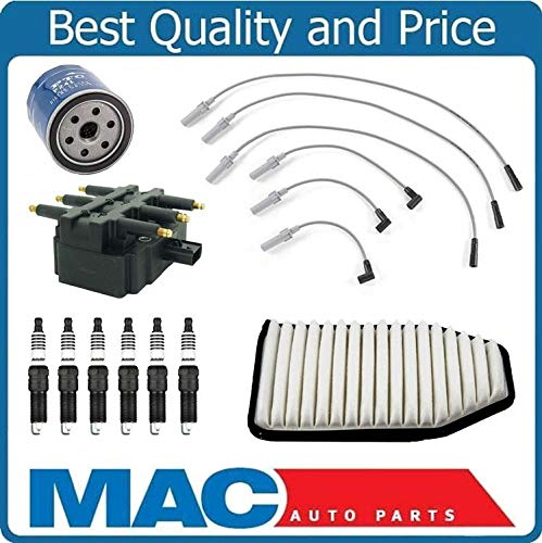 Mac Auto Parts 157524 for 07-11 Wrangler 3.8L Wire Set Plugs Air Filter Oil Filter Coil 10pc Tune Up