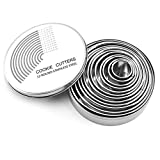 Round Cookie Cake Cutter Set - 12 Pack Pastry Cutters Stainless Steel Baking