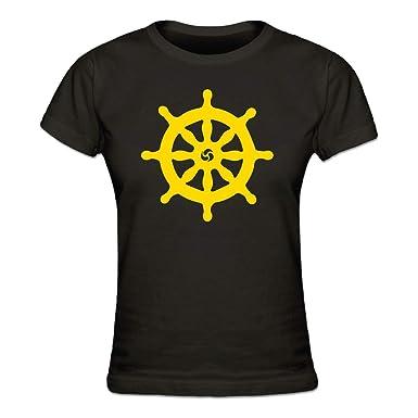 Shirtcity Dharmachakra Buddhismus Symbol Frauen T Shirt By Amazon