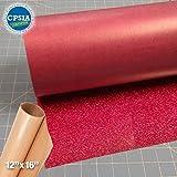 Siser Glitter Hot Pink Easyweed Heat Transfer Craft Vinyl Roll (50ft x 10'' Bulk w/ Teflon roll)