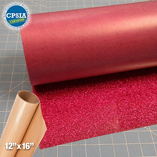 Siser Glitter Hot Pink Easyweed Heat Transfer Craft Vinyl Roll (50ft x 10'' Bulk w/ Teflon roll) by Siser