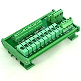 Electronics-Salon DIN Rail Mount 10 Position Power Distribution Fuse Module Board, For AC/DC 5~48V .