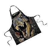 Jili Online Funny Animal Printed Aprons for Men Party Animal Baking Kitchen Chefs Gift - Dinosaur#2
