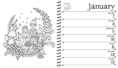Johanna Basford 2018 2019 16 Month Coloring Weekly Planner Calendar