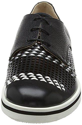 Oxford Pollini 00a shoe Ag ne Bt W Multicolore Bi Donne Delle nero InUnH4
