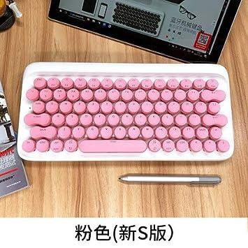 Teclado para Tableta Bluetooth mecánico inalámbrico Retro teléfono móvil ipadmacete Verde Eje máquina de Escribir -A: Amazon.es: Electrónica