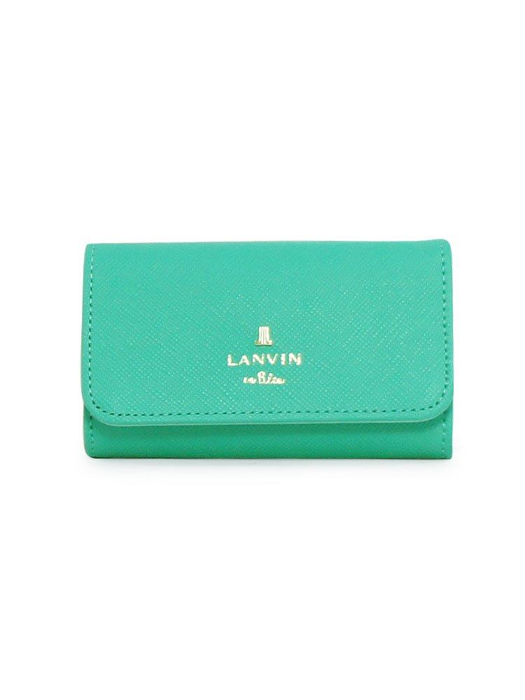 (ランバンオンブルー) LANVIN en Bleu ランバン オン ブルー キーケース 481175 リュクサンブール カラー B07CSS9QQY 【71】エメラルドグリーン 【71】エメラルドグリーン