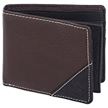 Roots 73 Men's Classic Slim RFID Protected Trifold Flipout Id Wallet Brown