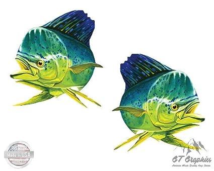 Vinyl Sticker Waterproof Decal GT Graphics Mahi Mahi