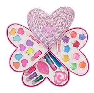 Cosmetics Set Petite Girls Heart Shaped Cosmetics Play Set - Fashion Makeup Kit for Kids by Cosmetics Set