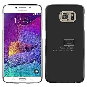 EJOY---Cubierta de la caja de protección la piel dura para el / Samsung Galaxy S6 / --Confía en el equipo