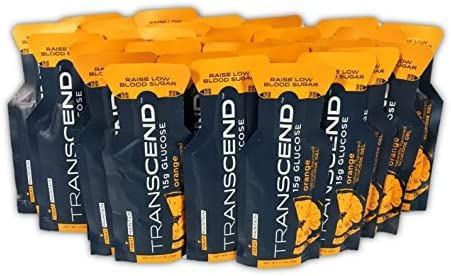Transcend Orange-Flavored Glucose Gels – 15gram Packets 30