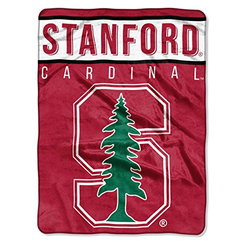 Cardinals Plush - The Northwest Company Officially Licensed NCAA Standford Cardinal Basic Plush Raschel Throw Blanket, 60
