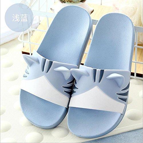 verano son frescos de baño encantadoras en un una 29 zapatillas casa claro Fankou nbsp;Los antideslizante cuartos de 28 familia en tres de azul plana bañera base 20cm parejas wq0WXICx