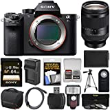 Sony Alpha A7S II 4K Wi-Fi Digital Camera Body with FE 24-240mm Lens + 64GB Card + Case + Flash + Battery & Charger + Tripod + Kit