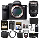 Sony Alpha A7S II 4K Wi-Fi Digital Camera Body with FE 24-240mm Lens + 64GB Card + Case + Flash + Battery & Charger + Tripod + Kit