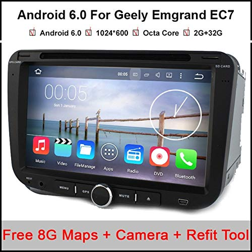 2 Ram 1 Flash - BEESCLOVER 1024600 Octa Core CPU Android 6.0.1 Car DVD Player 2GB RAM 32GB Flash for Geely Emgrand EC7 Radio GPS Navigation Stereo BT Show