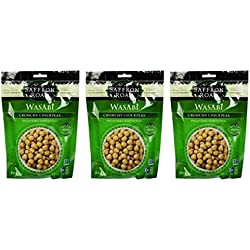 Saffron Road Crunchy Seasoned Chickpeas, Wasabi Flavor - Pack of 3, 6 Ounces each