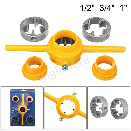 (6 Pcs NPT Die Set PVC Tools Thread Maker Sizes: 1/2'', 3/4'', 1'' Tarraja Tubo)