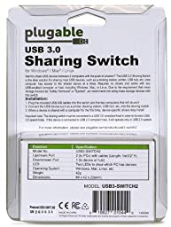 Plugable USB 3.0 Sharing Switch for One-Button Swapping of USB Device/Hub Between Two Computers (A/B Switch)