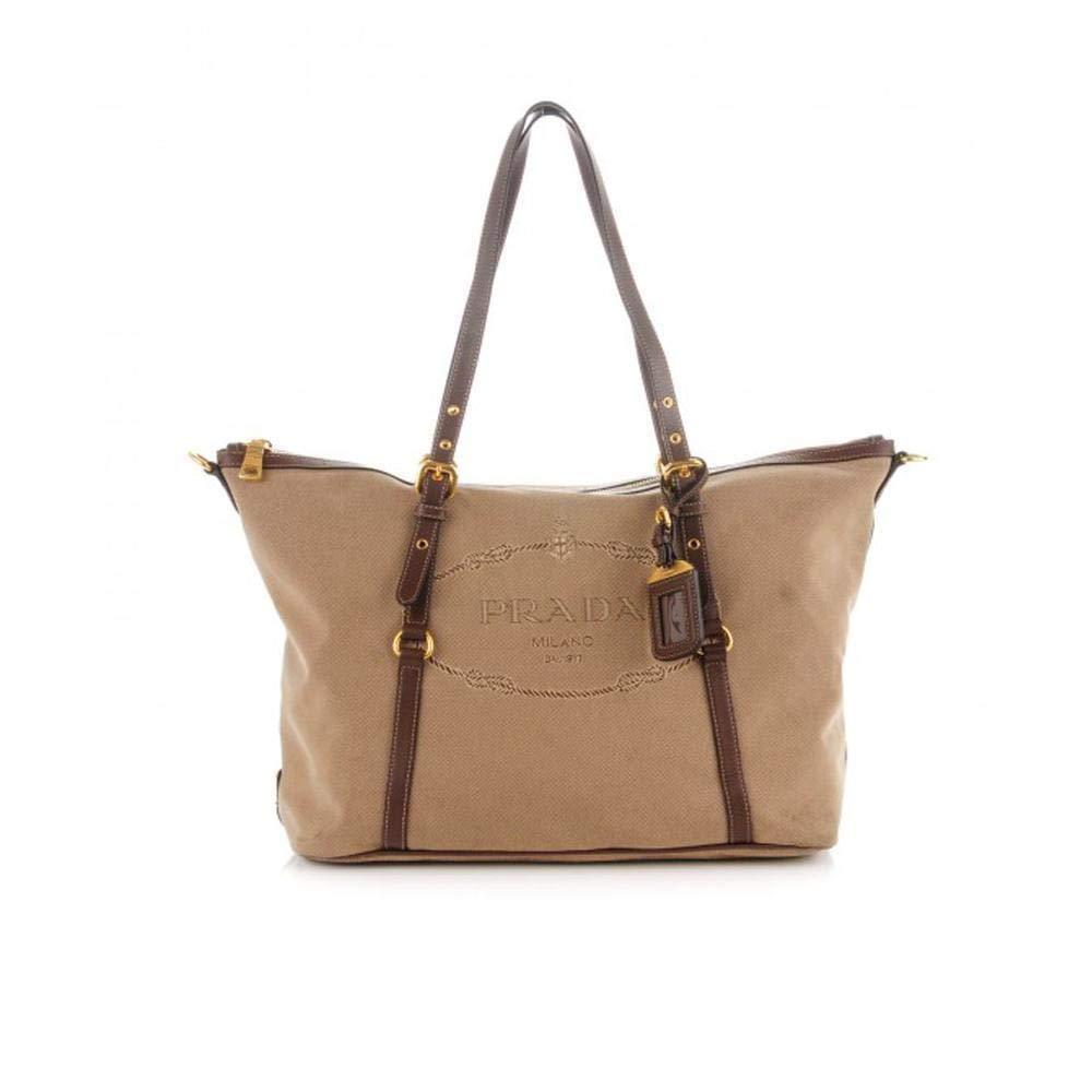 f6a428a666e3 Prada Women s Jacquard Logo Shopping Tote Corda Bruciato 1BG253  Handbags   Amazon.com