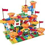 LY Children's Building Blocks Plastic Toys 3-6 Years Old Puzzle Boy and Girl Assembling Spelling Slides Slide Blocks,B