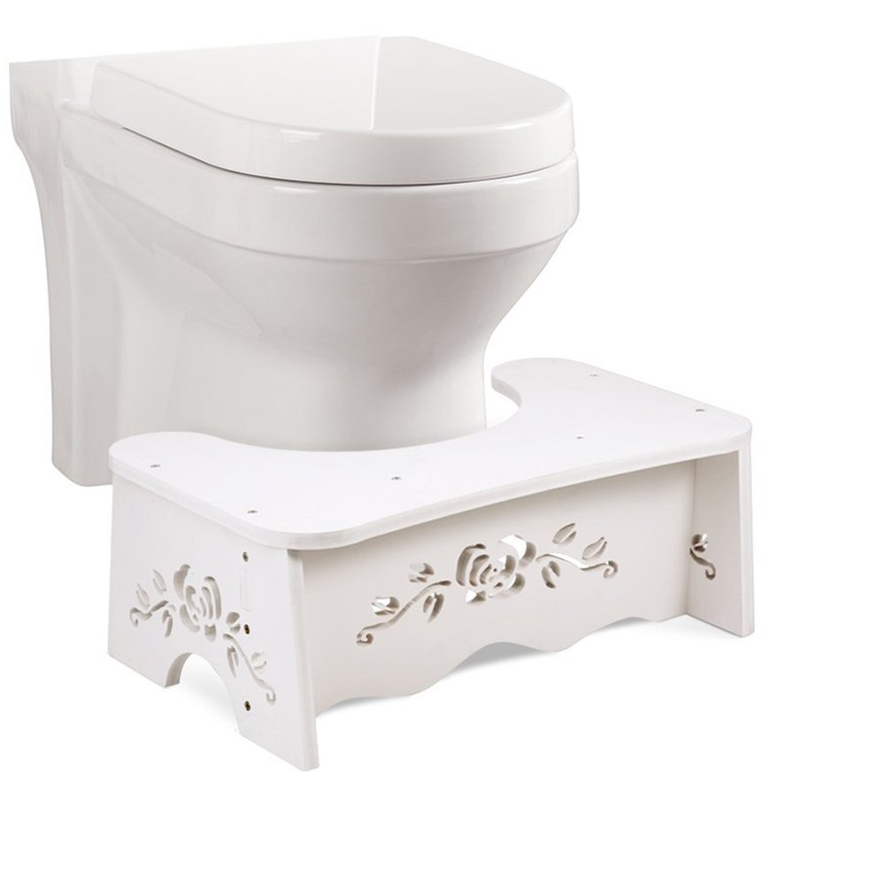 Squat Toilet Stool,Bathroom Squat Potty For Natural & Comfortable Aid,Wood-Plastic Board, Environmentally Friendly Materials (Type1) by Hrisen
